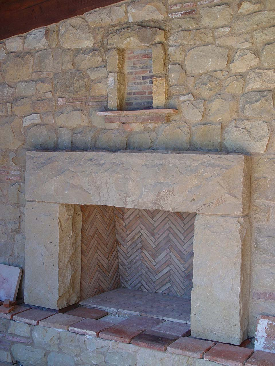 mantle limestone caps out seating sandstone wood pin just masonry knocked concrete fireplace mesquite tjcartisanconsultingllc tjc